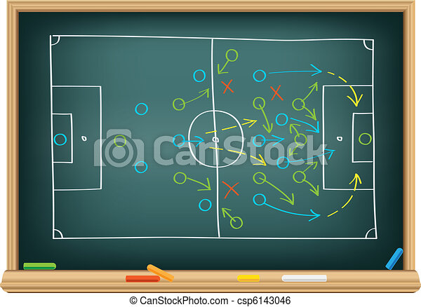 soccer strategy on the blackboard - csp6143046