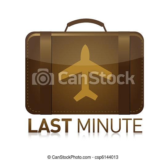 last minute luggage airplane - csp6144013