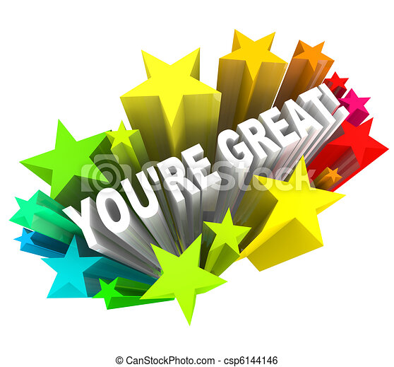 You're Great - Praise Words for Success - csp6144146