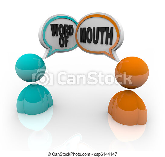 Word of Mouth - Two People Speaking - csp6144147
