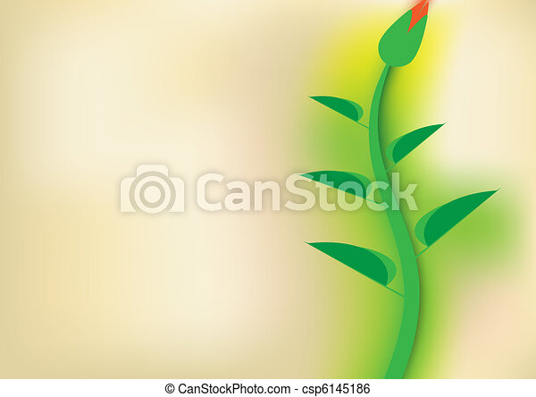 blurred floral background - csp6145186