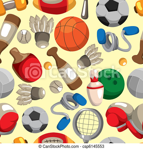 seamless sport goods pattern - csp6145553