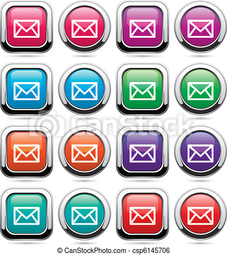 vector set of mail buttons - csp6145706