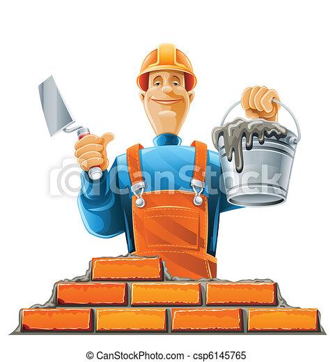 builder in helmet - csp6145765