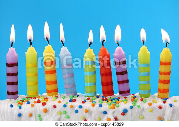 Nine birthday candles - csp6145829
