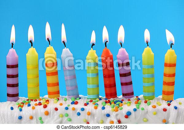 蜡燭, 生日, 九 - csp6145829