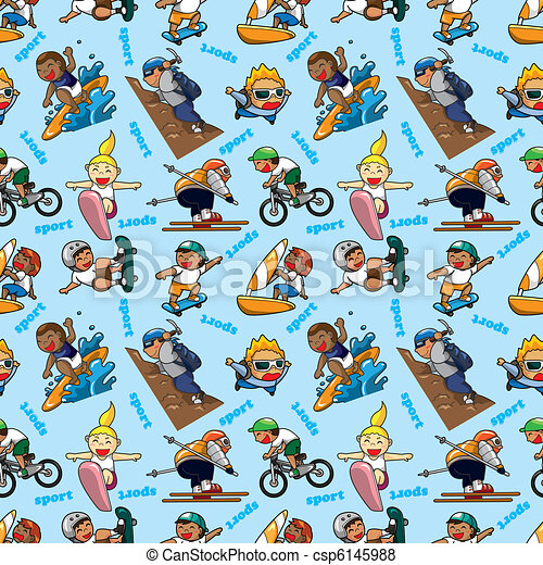 seamless Extreme sport pattern - csp6145988