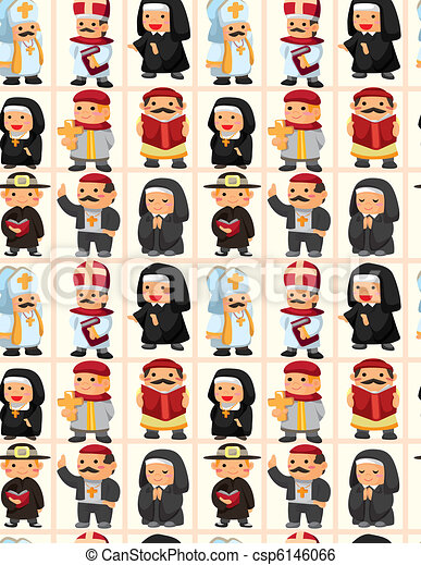 seamless priest pattern - csp6146066