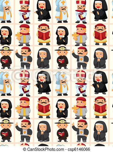 seamless priest pattern  - csp6146066