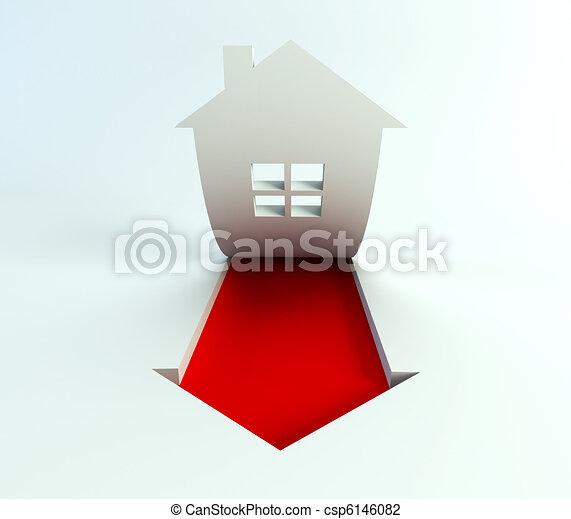 real estate are rise in price - csp6146082