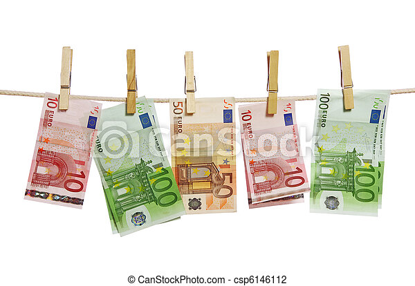 Money laundering on clothesline - csp6146112