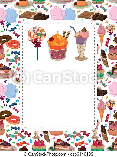 candy cake card - csp6146133