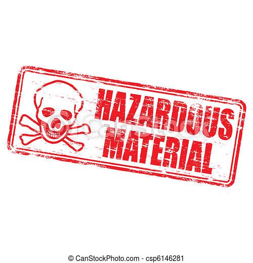 Hazardous Material Stamp - csp6146281