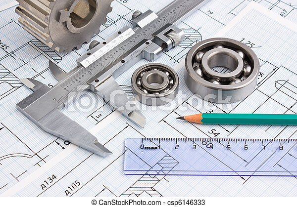 mechanical drawing and pinion - csp6146333