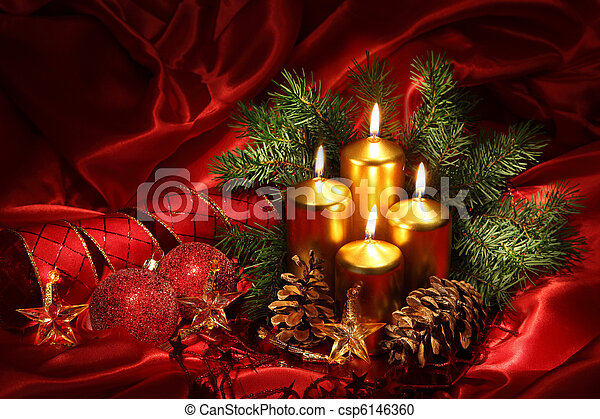 Christmas candles - csp6146360