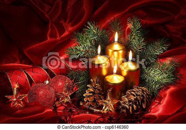 Christmas candles - csp6146360