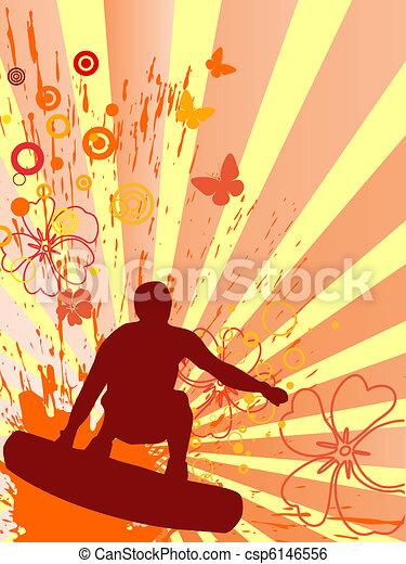 summertime - surfing - csp6146556