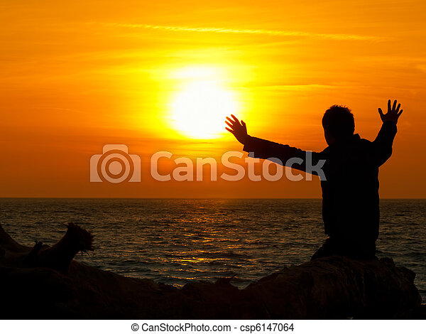 Sun gazing - csp6147064