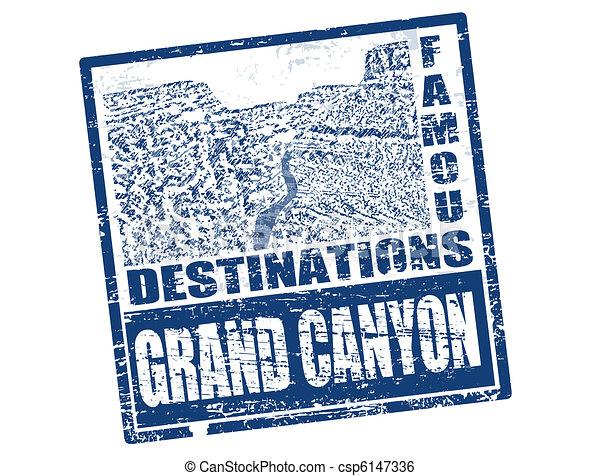 Grand Canyon stamp - csp6147336