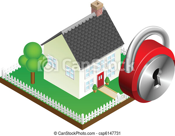 Home security system concept - csp6147731
