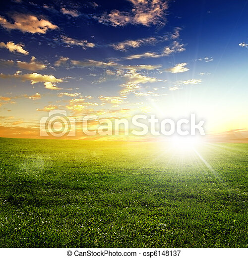 nature landscape and the sunset - csp6148137