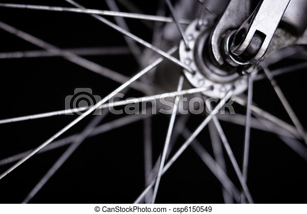 Front wheel of a bicycle  - csp6150549