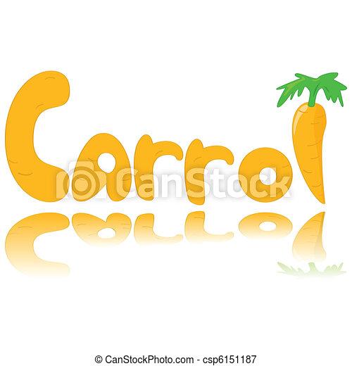 Carrot graphic - csp6151187