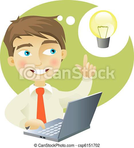 Young man having an idea - csp6151702
