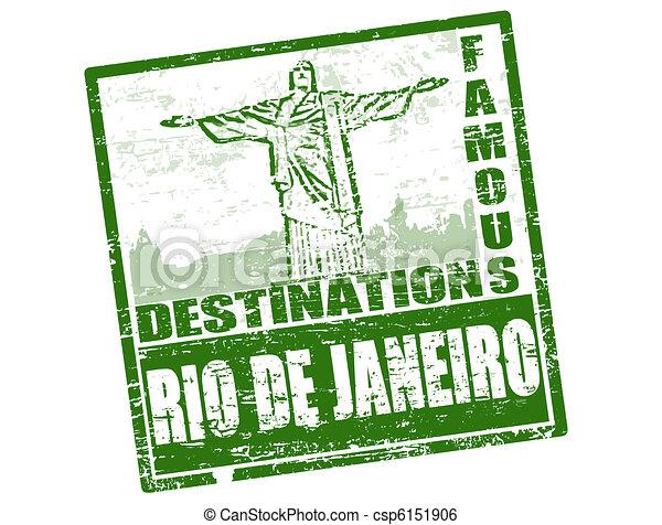 Rio de Janeiro stamp - csp6151906