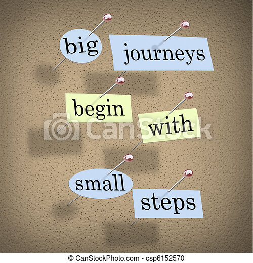 Big Journeys Begin With Small Steps - csp6152570