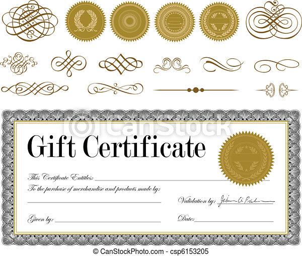 Vector Gold Seal and Certificate Set - csp6153205