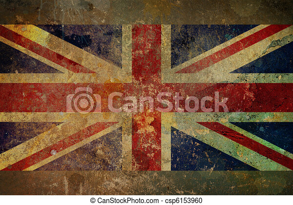 Grunge Union Jack Flag Graphic - csp6153960