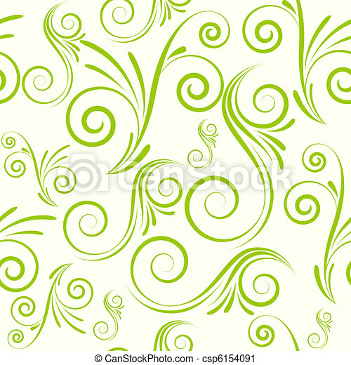Seamless ornament from swirls - csp6154091