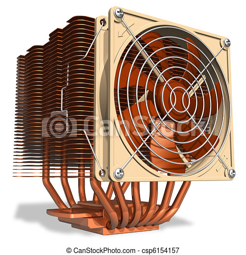 Powerful copper CPU cooler - csp6154157