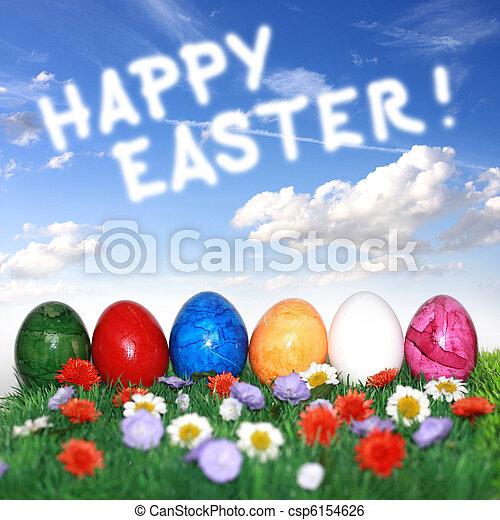 Happy easter - csp6154626