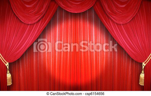 desempenho, teatro - csp6154656