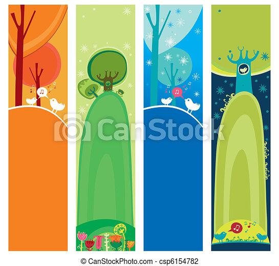 Seasonal, natural banners - csp6154782