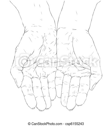 cupped hands - csp6155243
