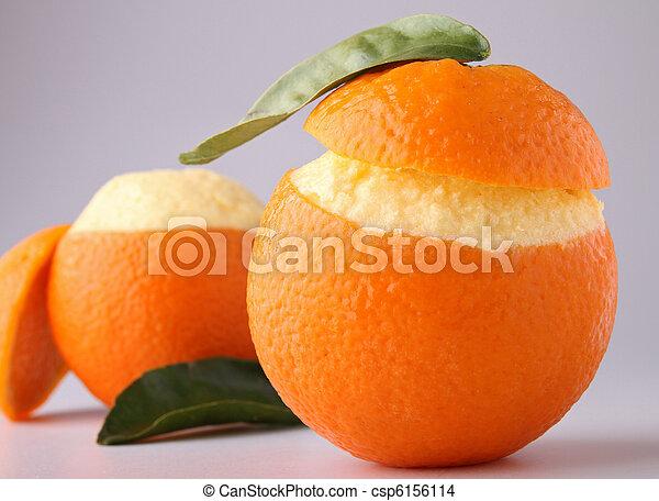 iced orange sorbet - csp6156114