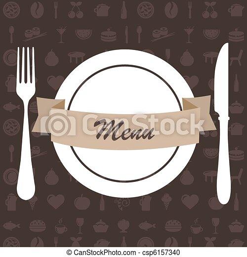 Restaurant Menu - csp6157340