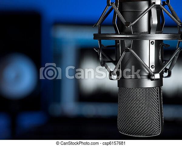 musik,  studio - csp6157681