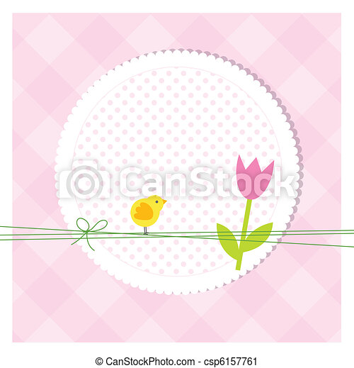 Easter card - csp6157761