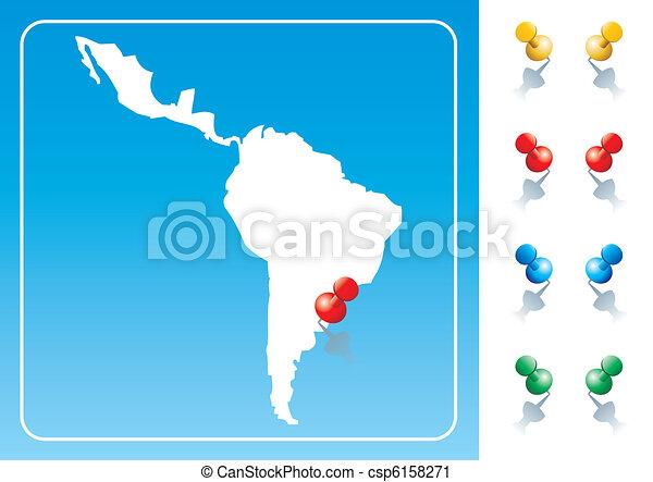 Latin America map illustration  - csp6158271