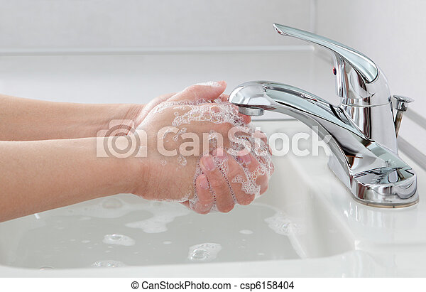 Hands Washing - csp6158404