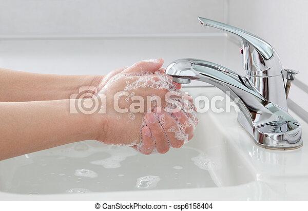 Hands Washing - csp6158404