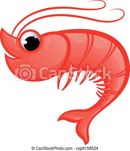 Shrimp Logo Vector Shrimp Mascot Vector
