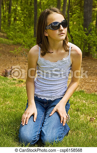 Pictures Of Preteen Girl Outside With Sunglasse A Cute
