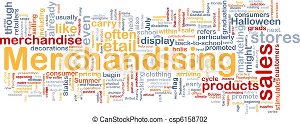 Merchandising background concept - csp6158702