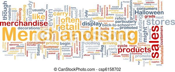 Merchandising background concept - csp6158702