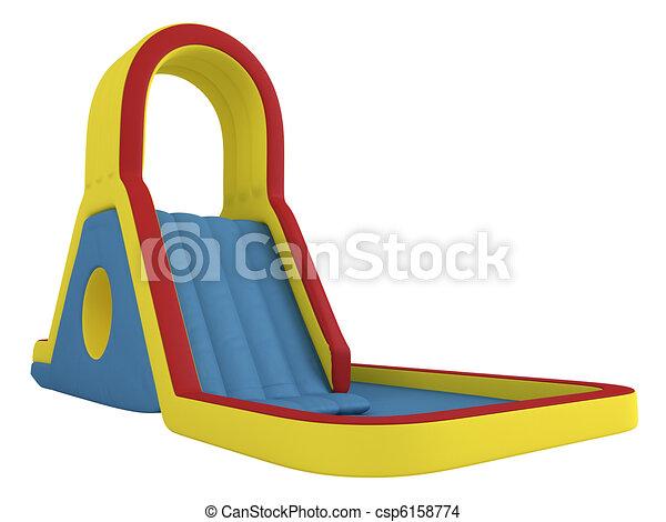 Inflatable children`s slide - csp6158774